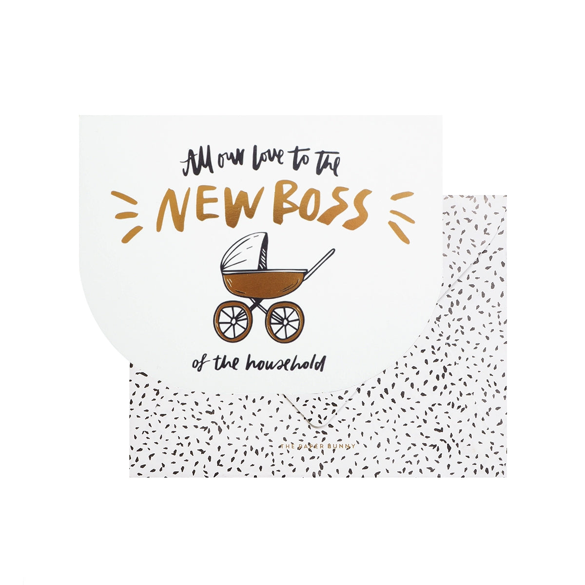 New Boss Baby (White) Greeting Card