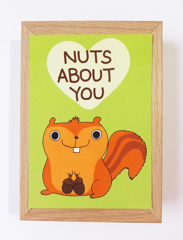Squirrel - Nuts About You Postcard