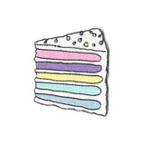 Pastel Rainbow Cake Sticker