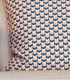 Peacock Pride Pillow Cover - Peach