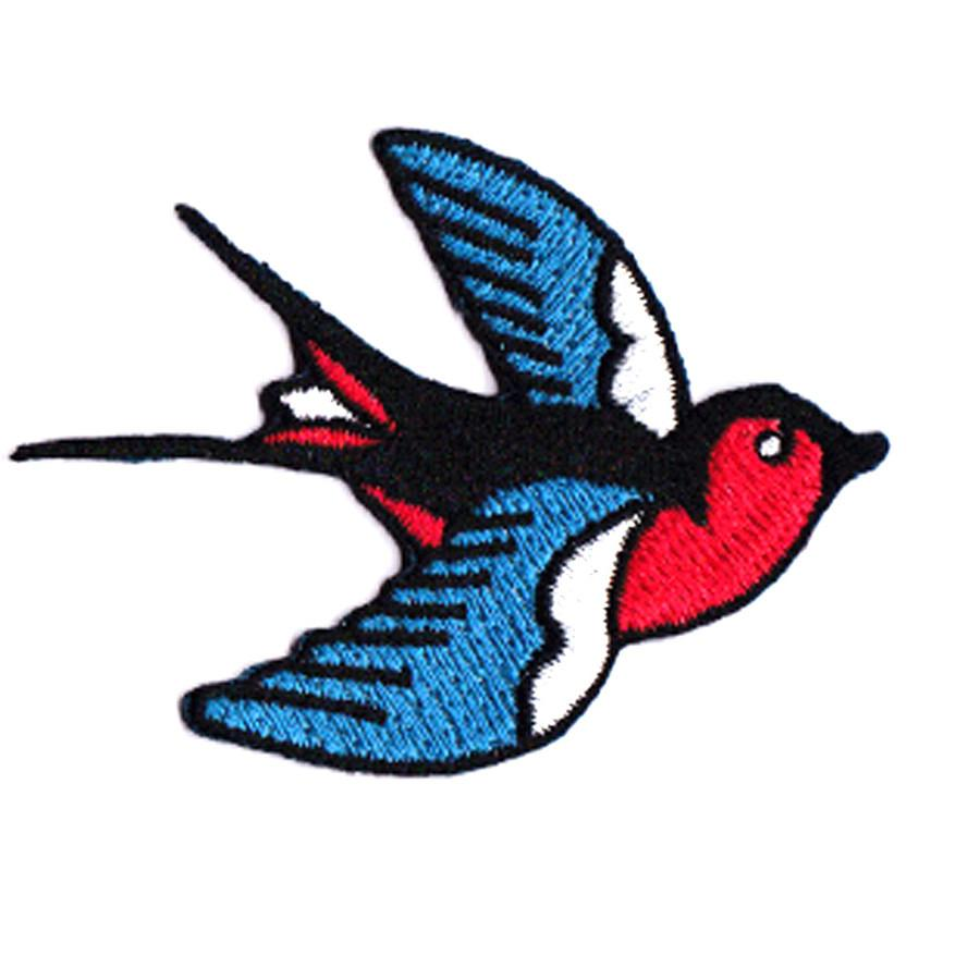 Swallow (Left) Iron On Patch