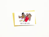 Pretty On Fleek Greeting Card