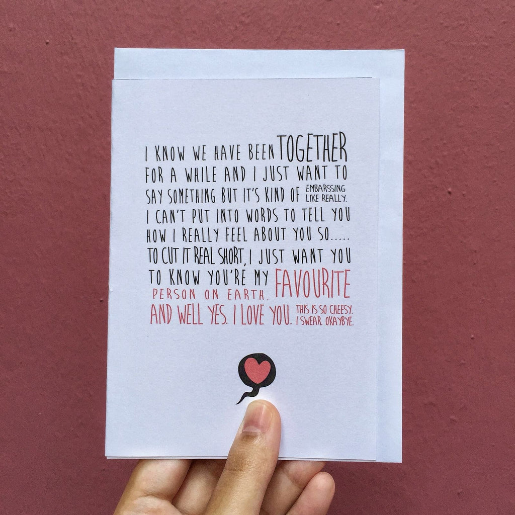 Quirky Dating Card
