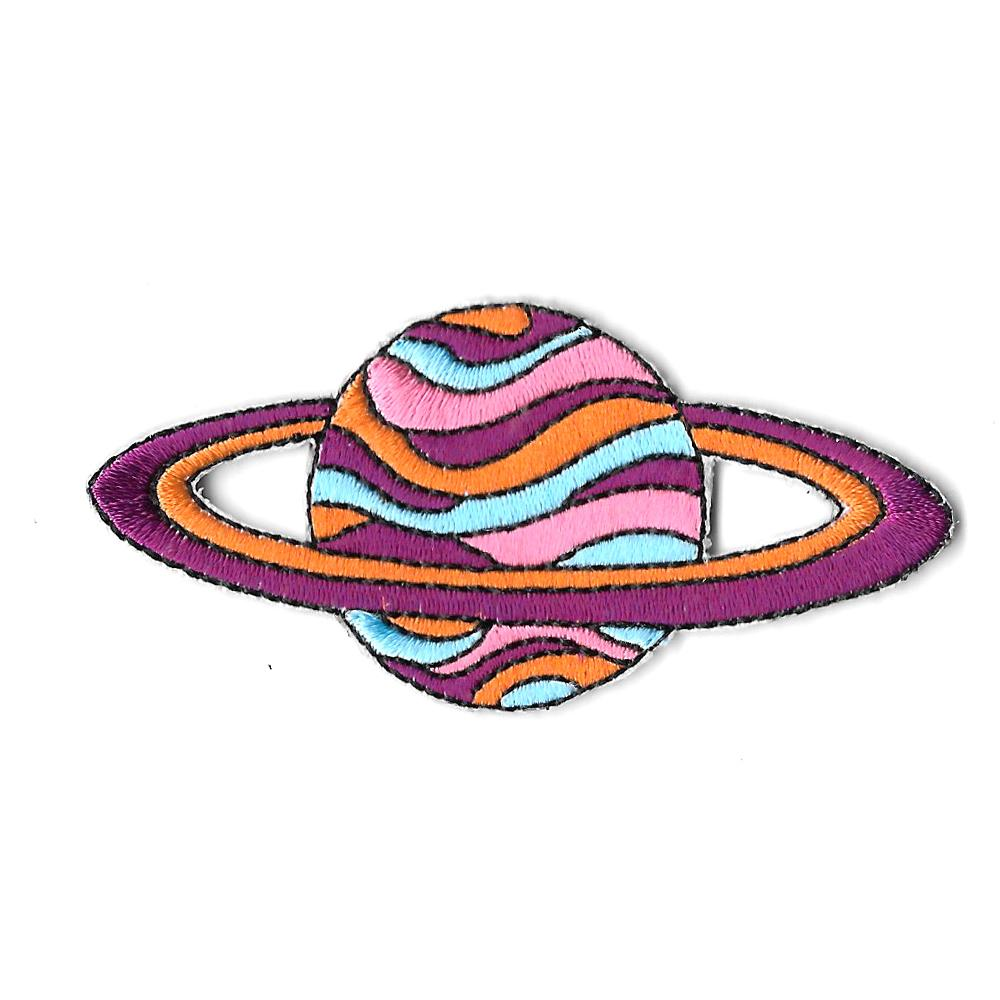 Ring Planet Iron On Patch
