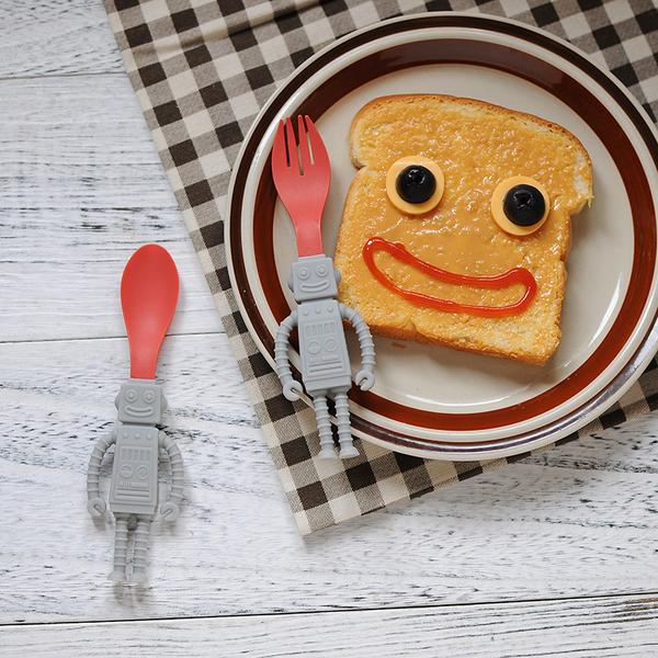 Robot Spoon & Fork Set