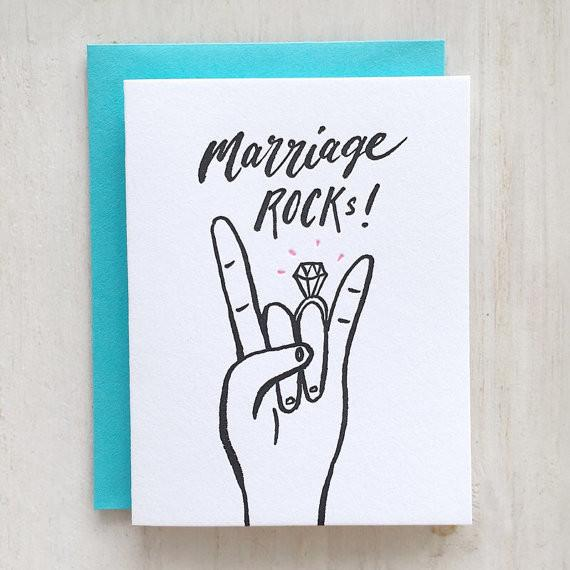 Marriage Rocks Greeting Card