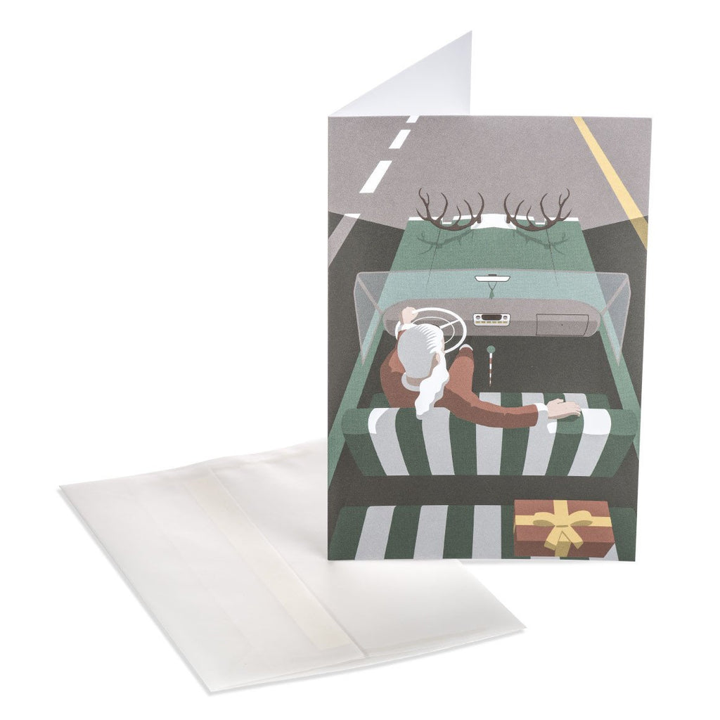Santa's Car Greeting Card