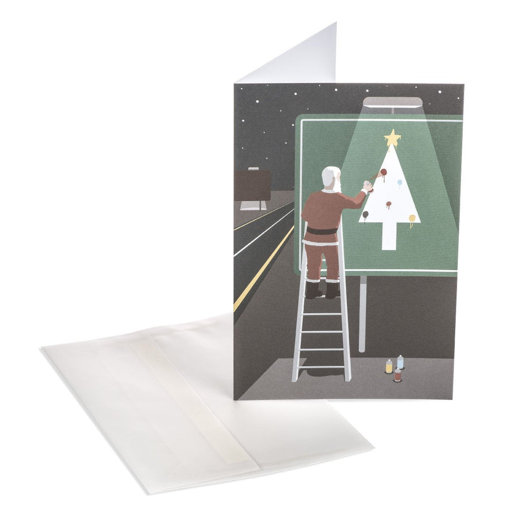 Santa's Highway Greeting Card