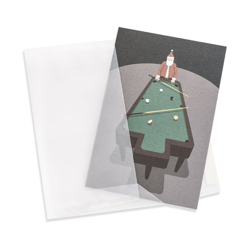 Santa's Pool Table Greeting Card