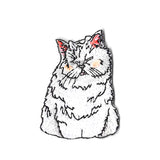 Snowy Cat Sticker Patch