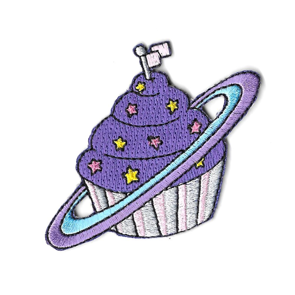 Space Cake Iron On Patch