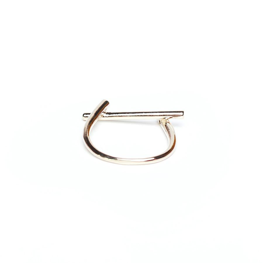 Strip Gold Ring