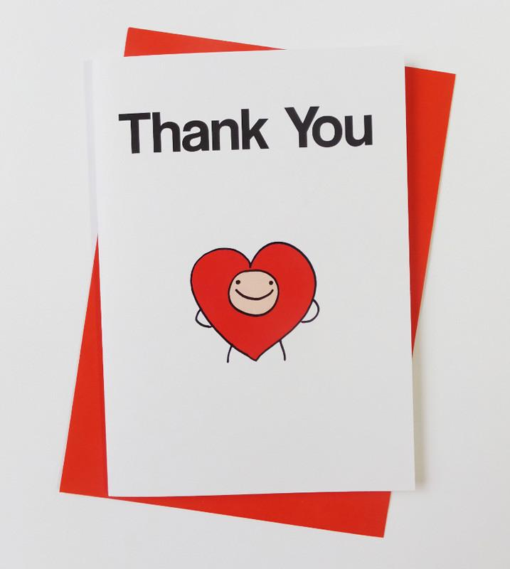 Heart - Thank You Card