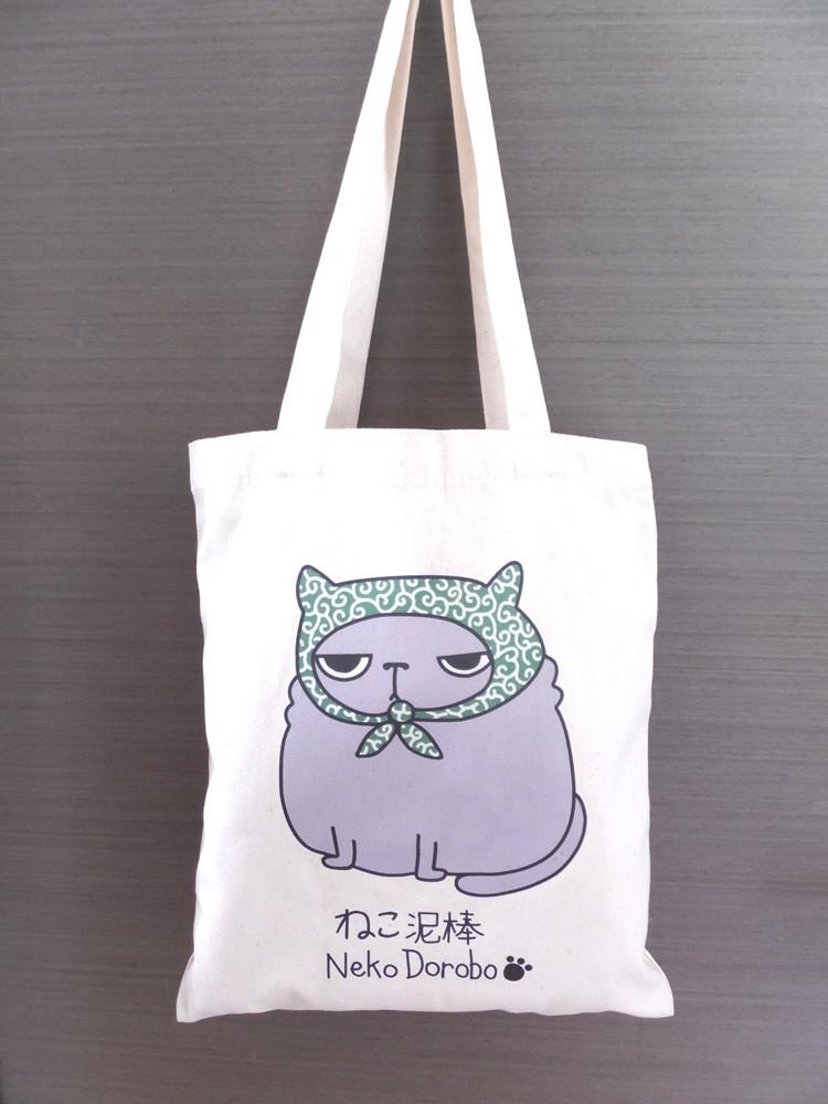 Neko Dorobo Cat Japanese Burglar Tote Bag