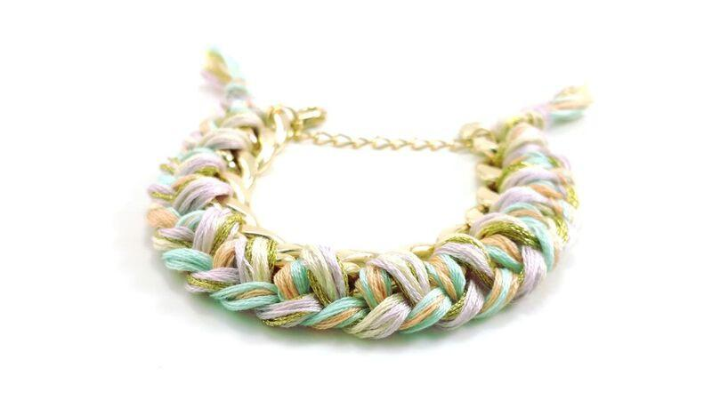 Whimsical Cotton Candy Bracelet