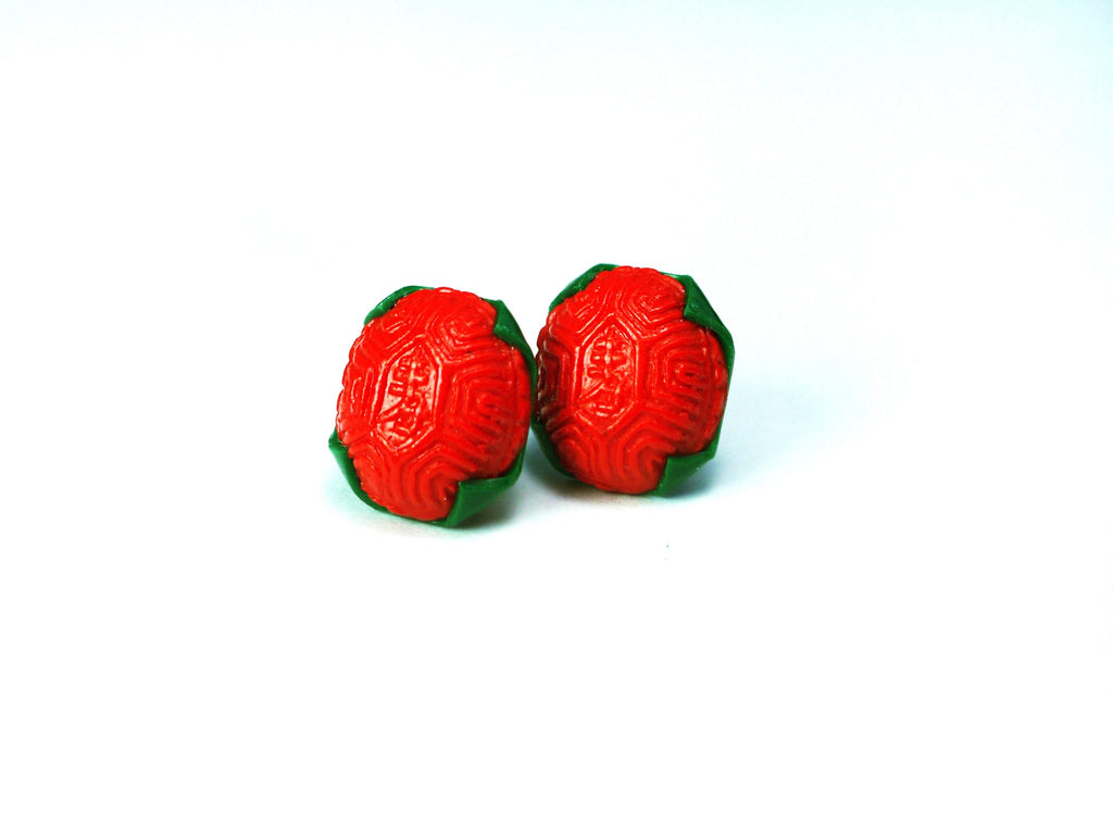 Ang Ku Kuih Stud Earrings