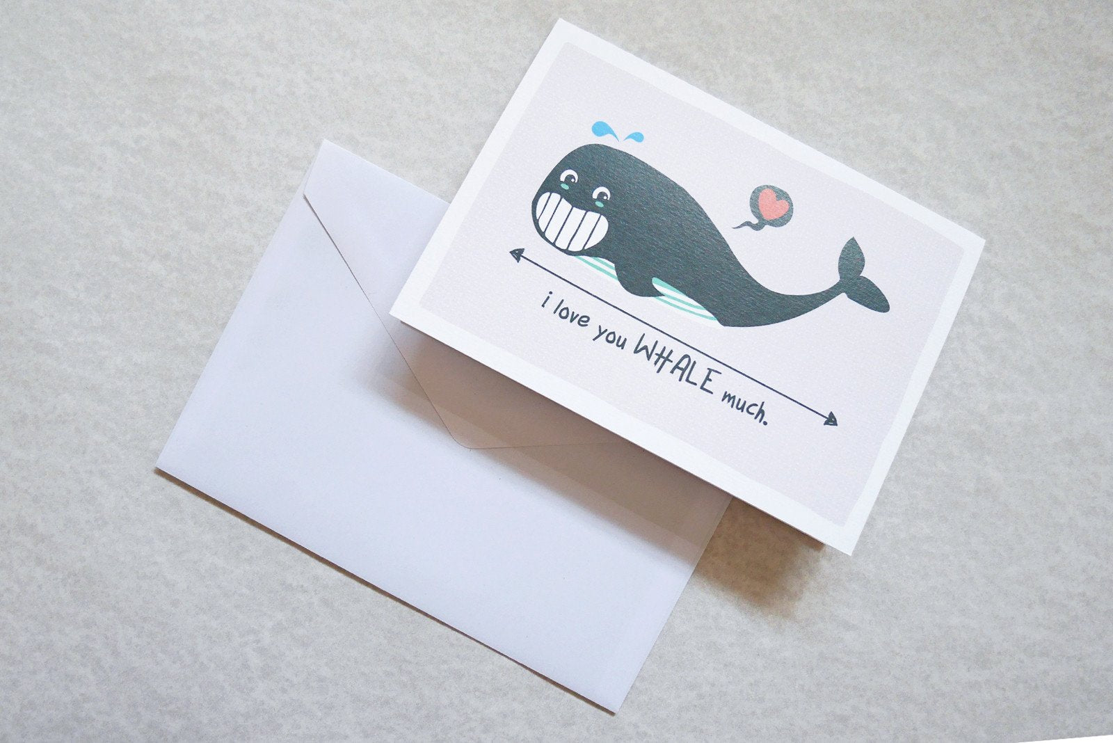 I Love You Whale Much Card