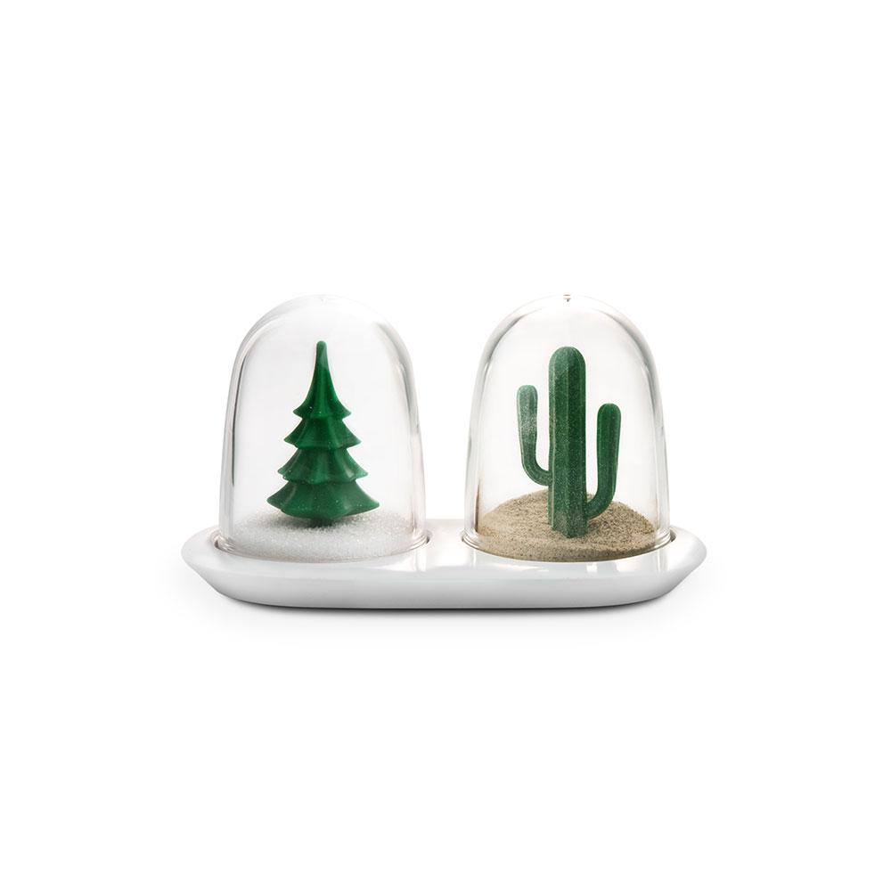 Winter and Summer Salt and Pepper Shaker Set