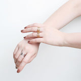 Yana Zigzag gold ring