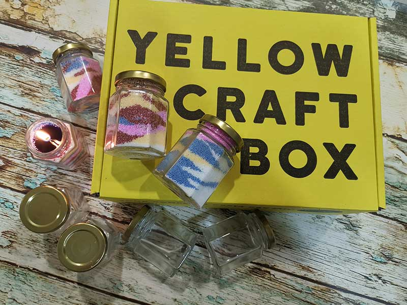 Yellow Craft Box #2 - Beaded Candles Craft Kit