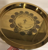 Flower Mandala Brass Tray