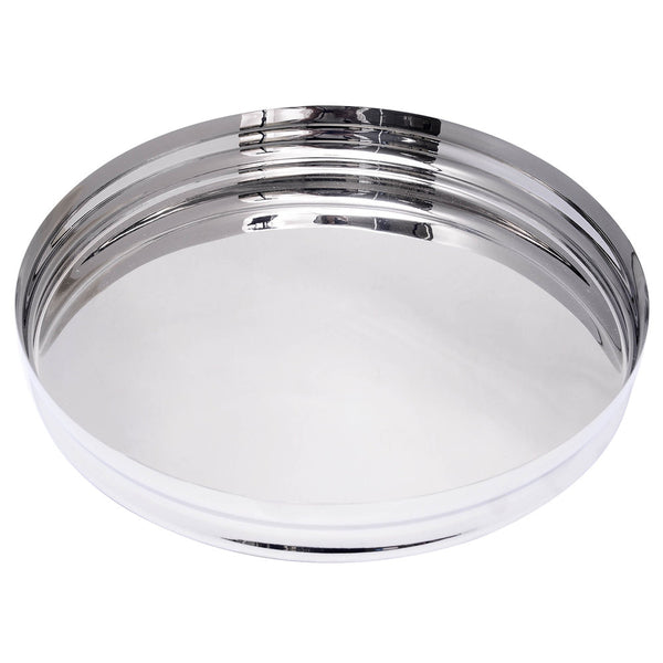 "13"" round tray with lip"