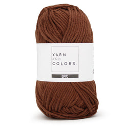 Yarn and Colors Epic - Brunet 027. Price $3.50