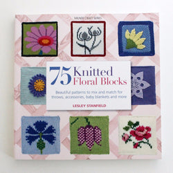 75 Knitted Floral Blocks - Lesley Stanfield. Price $26.00