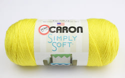 Caron Simply Soft - Super Duper Yellow 9612. Price $7.00