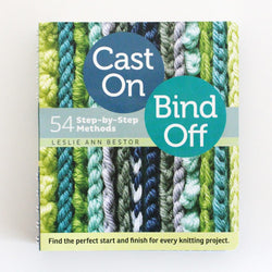Cast On Bind Off - Leslie Ann Bestor. Price $18.99