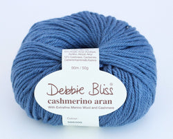 Debbie Bliss Cashmerino Aran - Denim 205. Price $10.50