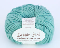 Debbie Bliss Cashmerino Aran - Duck Egg 82. Price $10.50