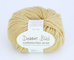 Debbie Bliss Cashmerino Aran - Gold 77. Price $10.50