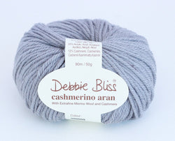 Debbie Bliss Cashmerino Aran - Grey 09. Price $10.50