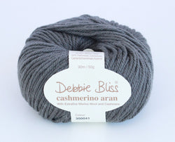 Debbie Bliss Cashmerino Aran - Grey Green 41. Price $10.50