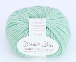 Debbie Bliss Cashmerino Aran - Mint 81. Price $10.50