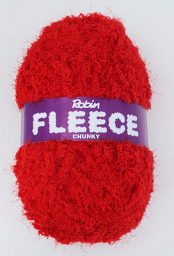 Robin Fleece Chunky - Red 4225. Price $5.30