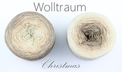 Wolltraum Christmas - December / Mother Of Pearl Glitter - 4 Ply. Price $46.00