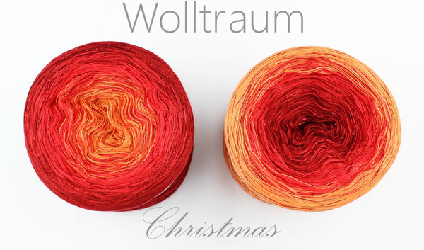 Wolltraum Christmas - The First Noel / Red Glitter - 4 Ply. Price $46.00