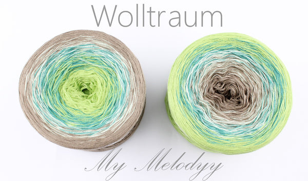 Wolltraum My Melodyy - Green Fairy - 4 Ply. Price $42.00