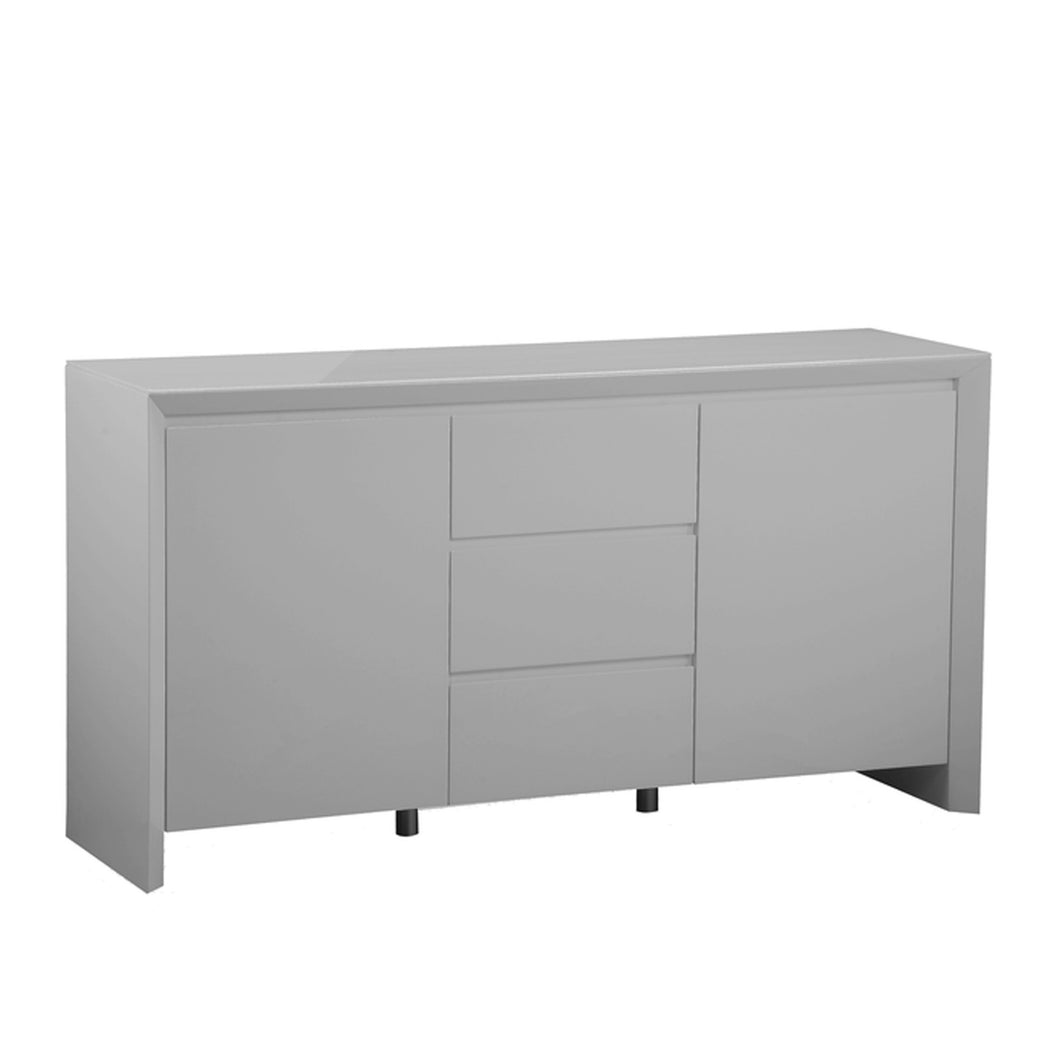 Elite High Gloss Large Sideboard - Grey