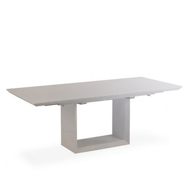 Elite High Gloss Extending Dining Table - Grey