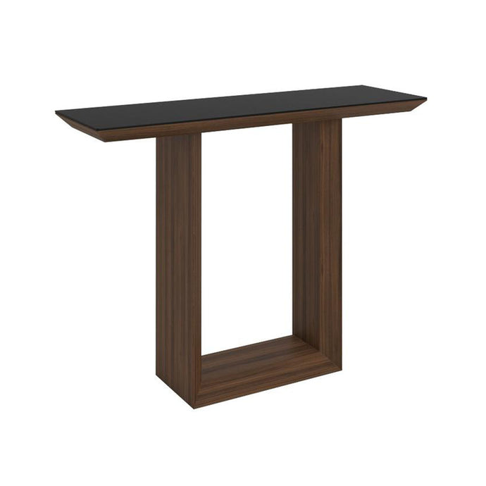 Elite High Gloss Console Table - Walnut