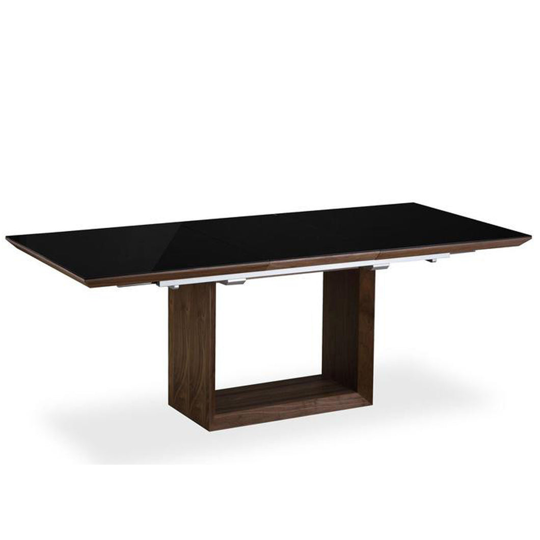 Elite High Gloss Extending Dining Table - Walnut