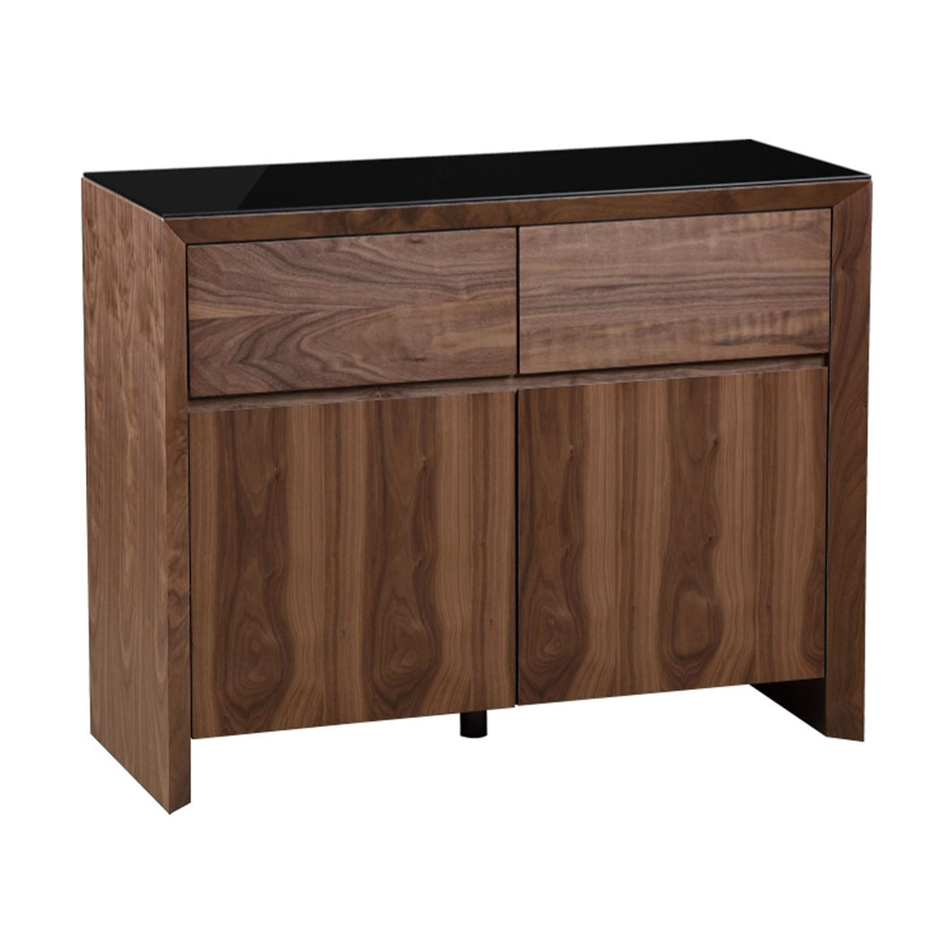 Elite High Gloss Medium Sideboard - Walnut