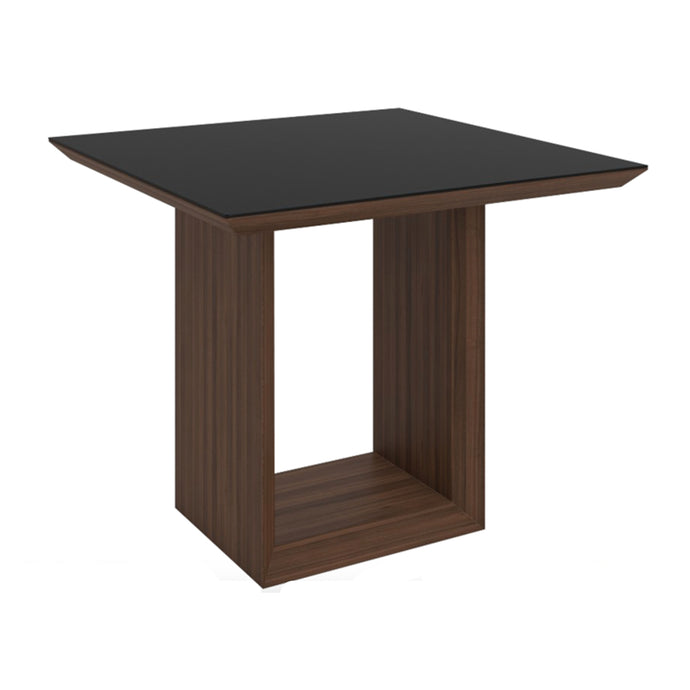 Elite High Gloss Small Dining Table - Walnut