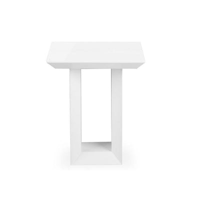 Elite High Gloss Lamp Table - White
