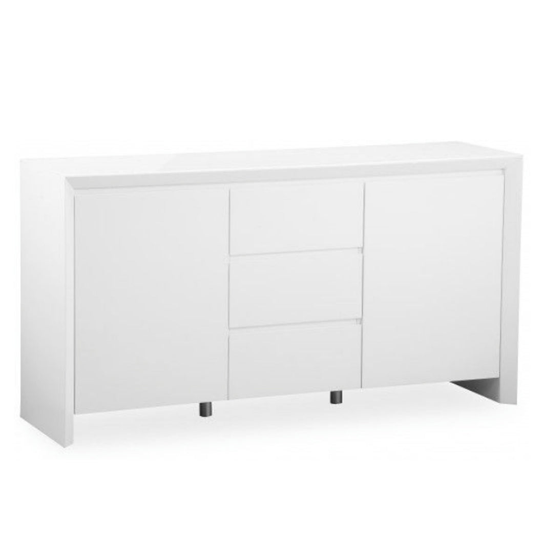 Elite High Gloss Large Sideboard - White