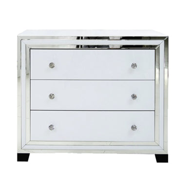 Liberty 3 Drawer Wide Cabinet - White