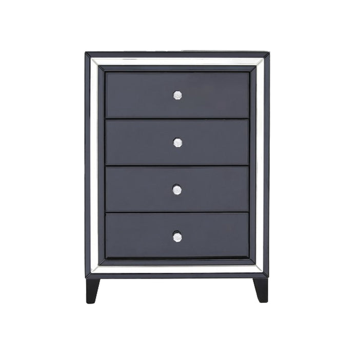 Liberty Mirror 4 Drawer Cabinet - Black